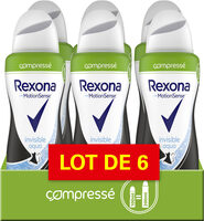 REXONA Déodorant Femme Spray Anti Transpirant Invisible Aqua Compressé 100ml Lot de 6 - Product - fr