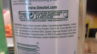 Timotei shampooing  nutrition & legerete - Ingrédients