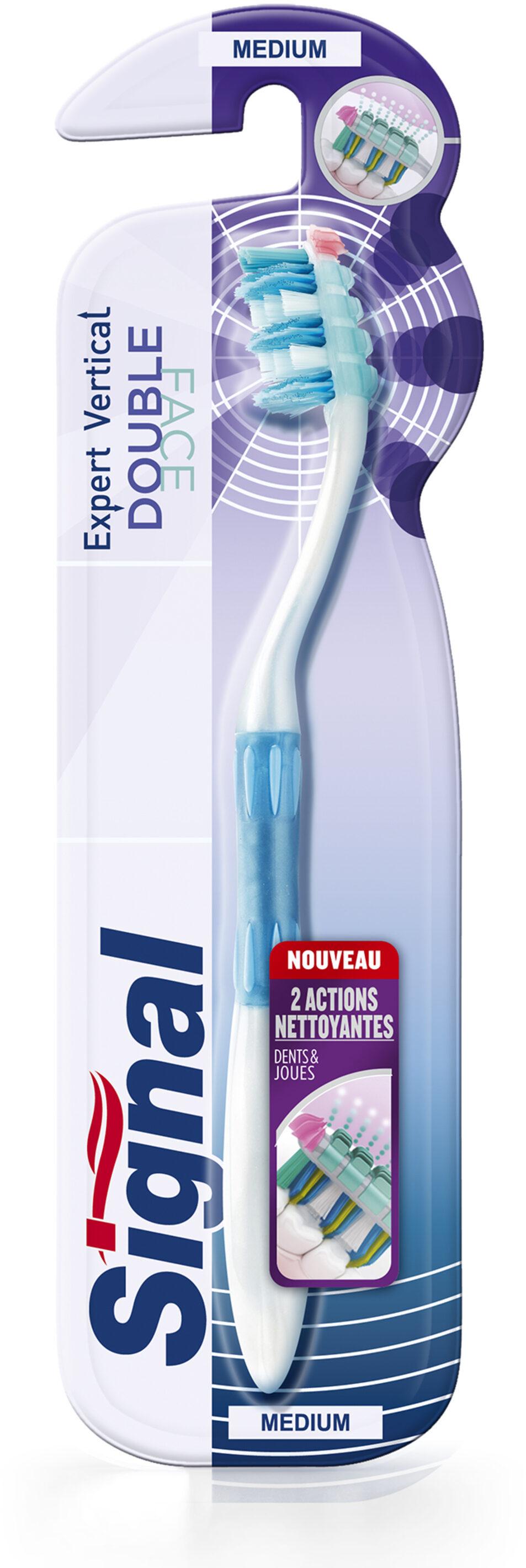 Signal Expert Vertical Brosse à Dents Double Face Medium x1 - Product - fr