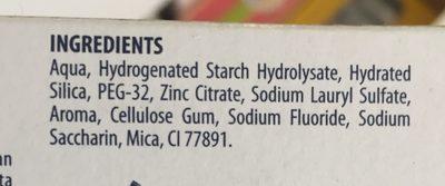 Dentifrice intégral complet - Ingrédients