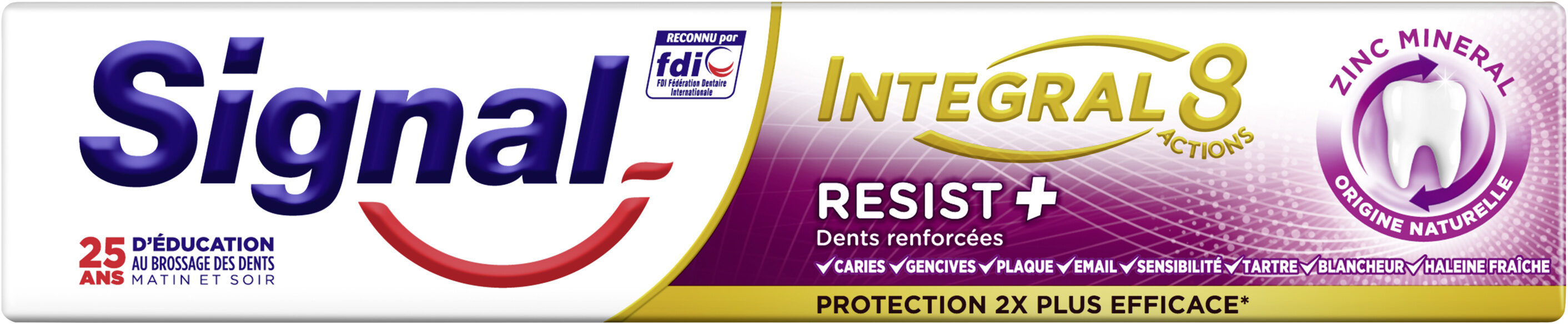 Signal Dentifrice Antibactérien Resist Plus Protection 18H - Product - fr