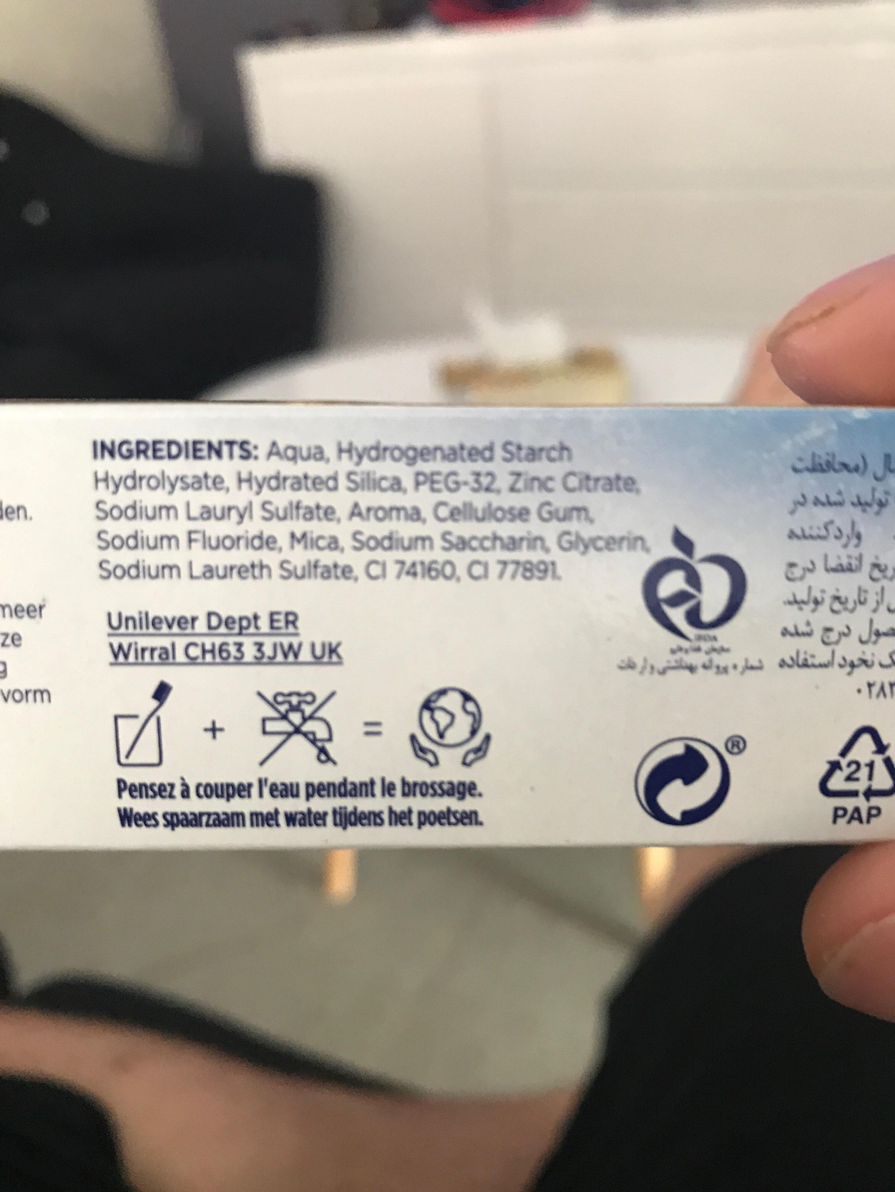 Signal Dentifrice Antibactérien Fresh Resist Plus 18H Protection - Ingrédients - fr