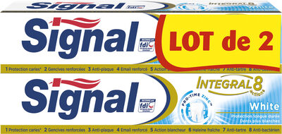 Signal Integral 8 Dentifrice White 2x75ml - Product - fr