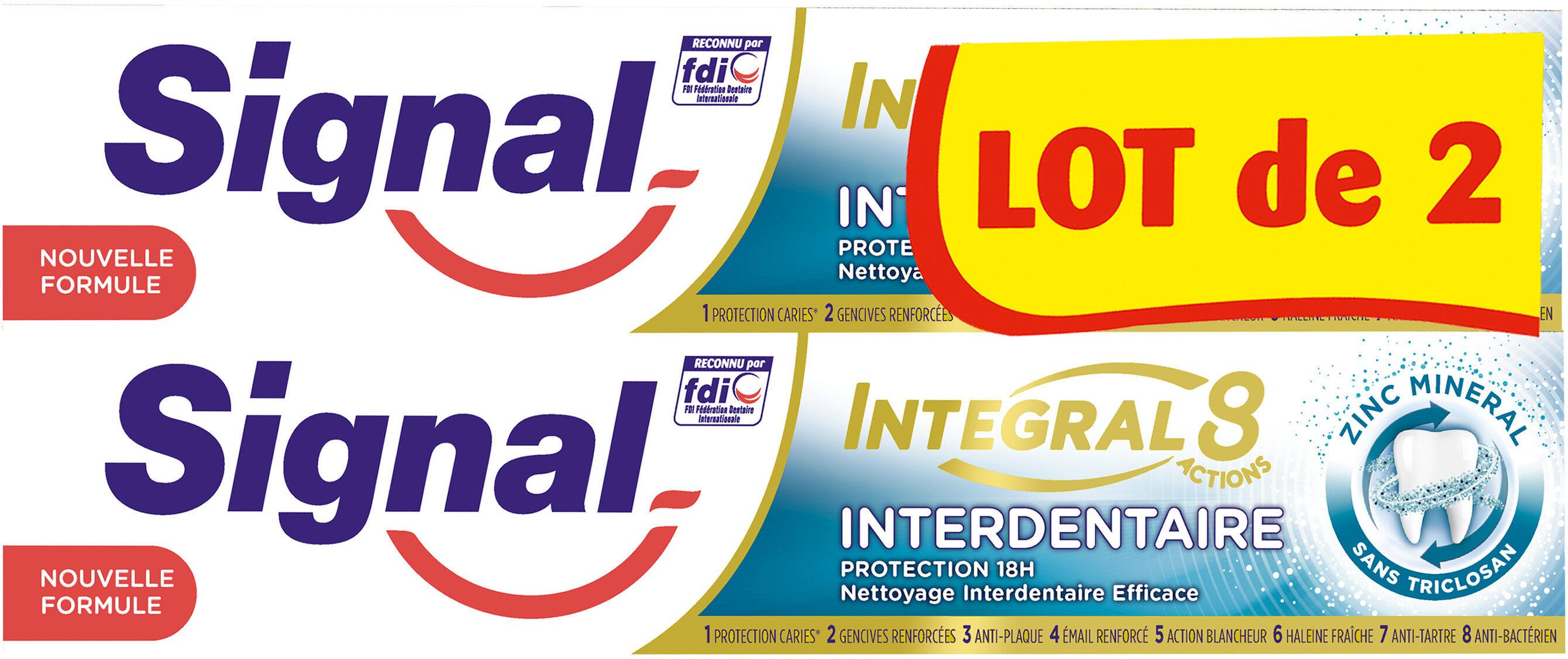 Signal Dentifrice Integral 8 Interdentaire 75ml Lot de 2 - Produto - fr