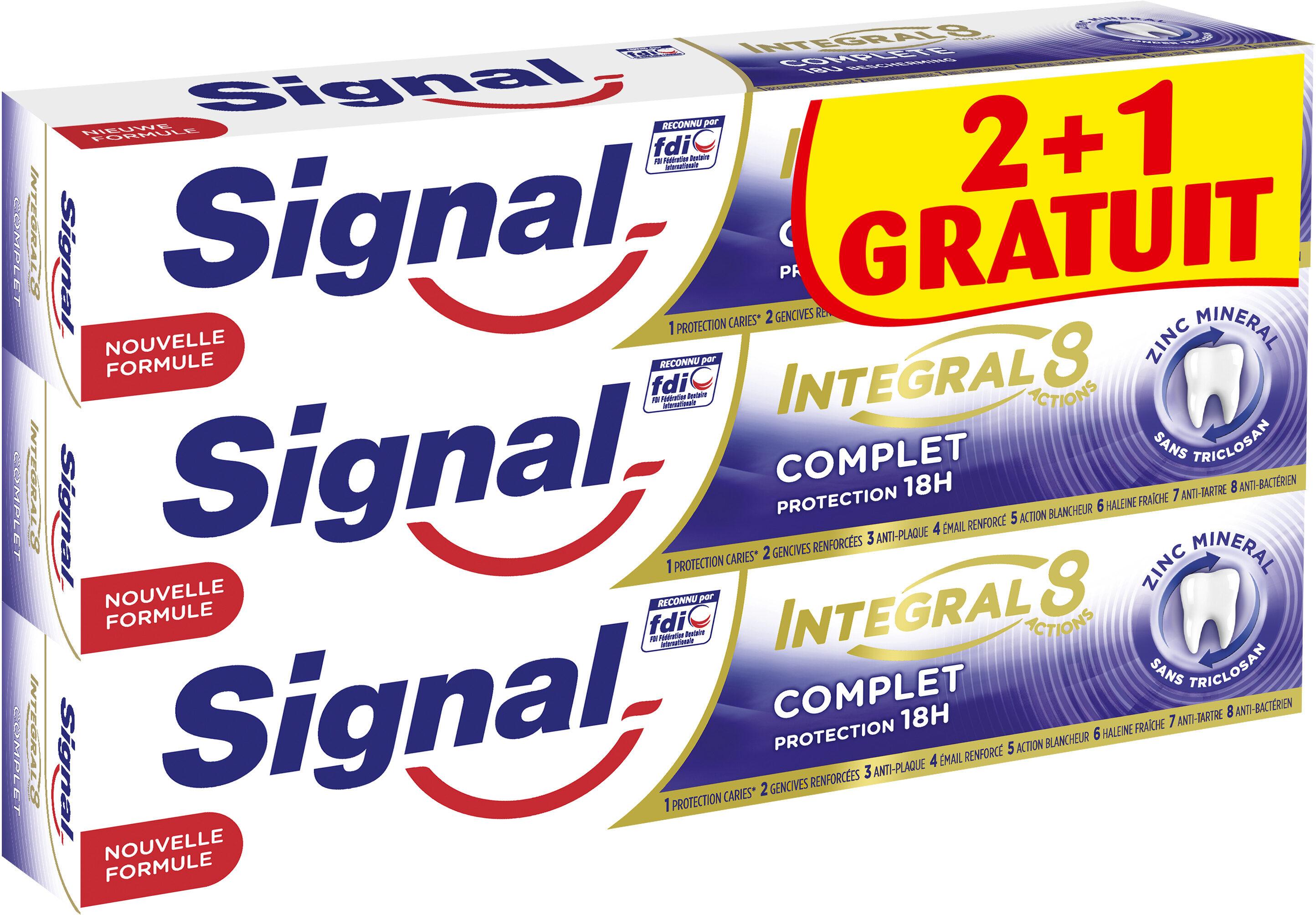 Signal Intégral 8 Dentifrice Complet Tube Lot de 2+1 offert x 75ml - Product - fr