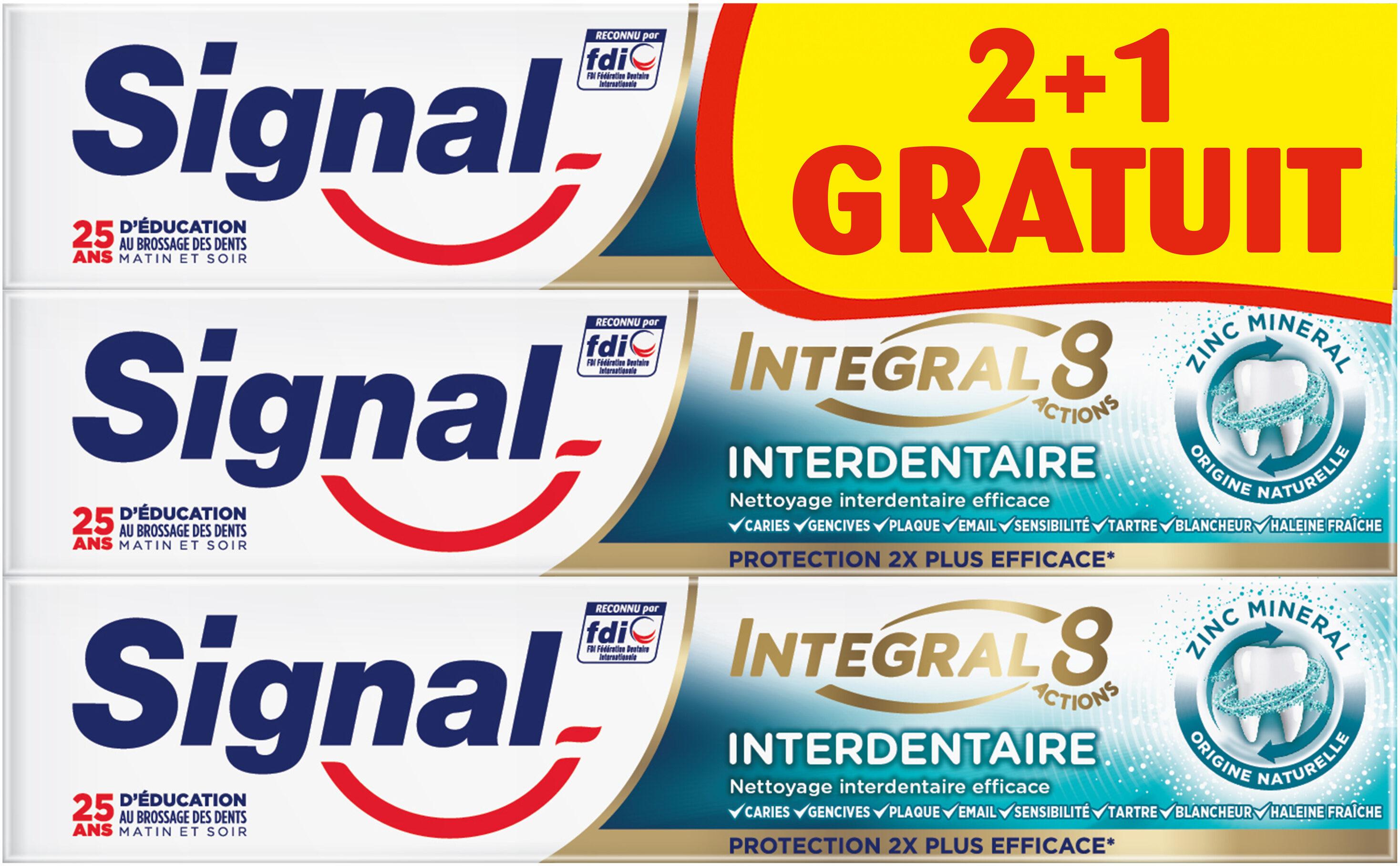 Signal Integral 8 Dentifrice Interdentaire 75ml Lot de 3(2+1 Offert) - Product - fr