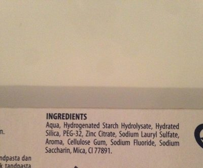 Signal Dentifrice Complet Tube - Ingredients - fr
