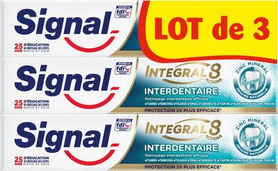 Signal Dentifrice Integral 8 Interdentaire 75ml Lot de 3 - Product - fr