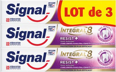 Signal Integral 8 Dentifrice Resist Plus 75ml Lot de 3 - Product - fr