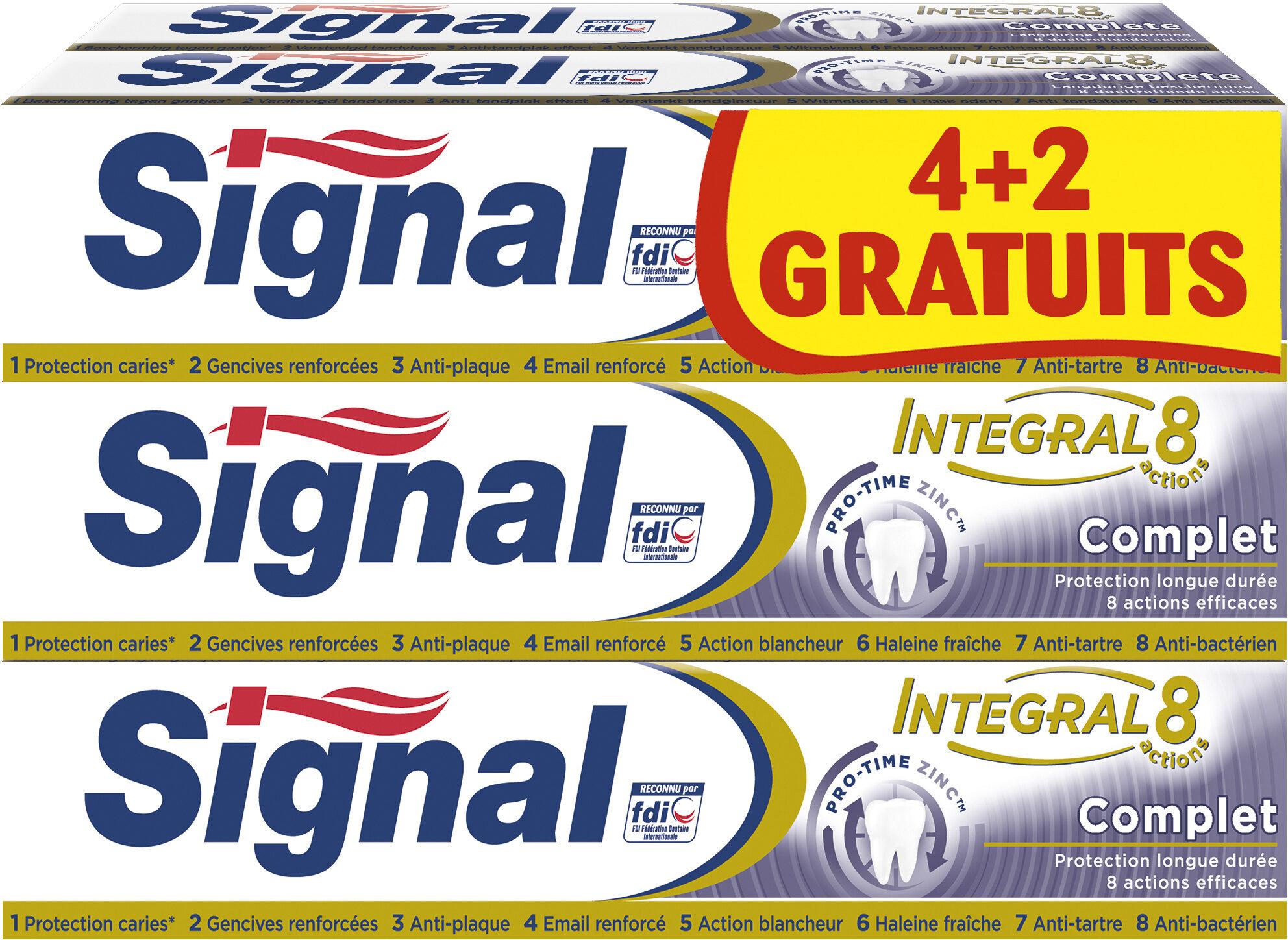 Signal Integral 8 Dentifrice Complet Tube Lot 4+2 Offerts x 75ml - Produit - fr