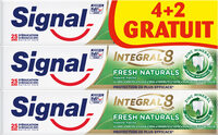 Signal Integral 8 Dentifrice Fresh Naturals Tube 75ml(4+2 Offerts) - Product - fr