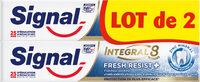 Signal Intégral 8 Dentifrice Fresh Resist Plus Tube Lot de 2x 75ml - Produit - fr