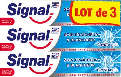 Signal Dentifrice Soin Fraîcheur & Blancheur Crystal Gel 3x75ml - Product