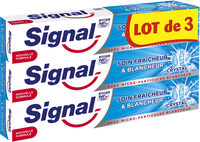 Signal Dentifrice Soin Fraîcheur & Blancheur Crystal Gel 75ml Lot de 3 - Product - fr
