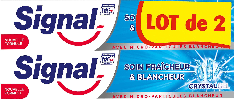 Signal Dentifrice Soin Fraîcheur & Blancheur Crystal Gel 2x75ml - Product - fr
