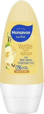 Monsavon Déodorant Femme Bille Antibactérien Pierre d'Alun & Fleur de Vanille - Product - fr
