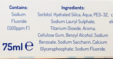 Dentifrice - Ingredients - fr