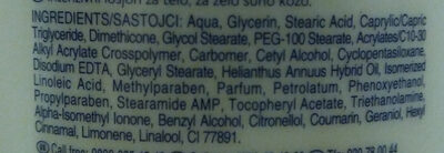 intensive body lotion - Ingredients - en