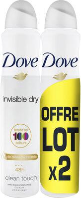 Dove Déodorant Femme Spray Anti Transpirant 48H Lot 2x200ml - Produit - fr