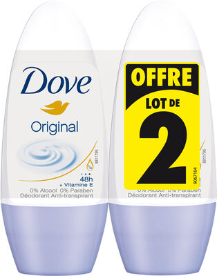 DOVE Déodorant Femme Anti-Transpirant Bille Original 2x50ml - Product - fr
