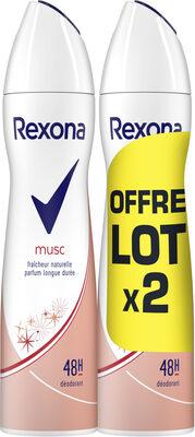 REXONA Déodorant Femme Spray Musc Lot 2X200ML - Product - fr