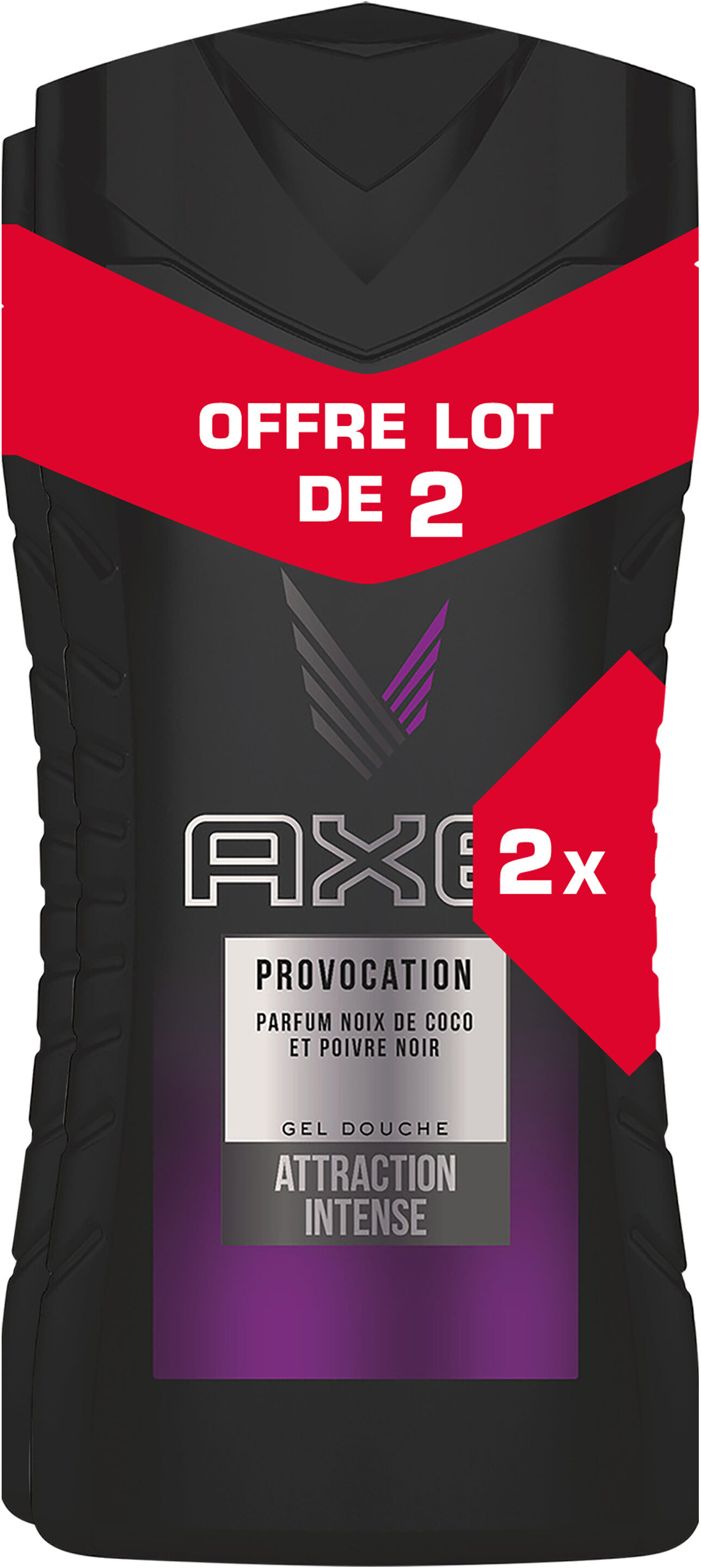 AXE Gel Douche Provocation Lot 2x250ml - Product - fr