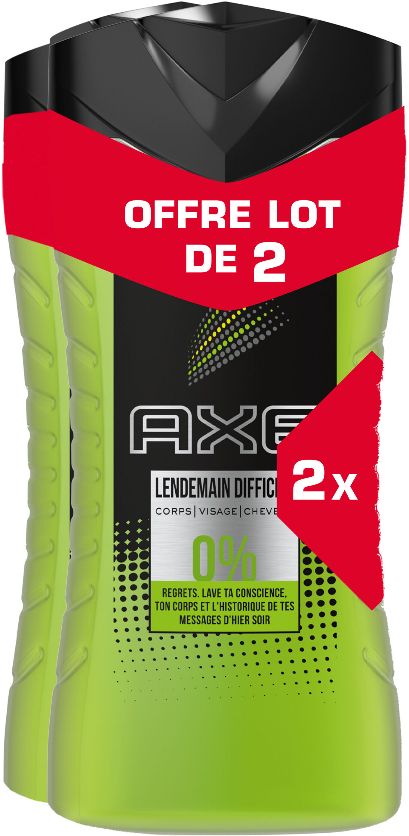 AXE 3en1 Gel Douche Homme Lendemain Difficile 250ml Lot de 2 - Product - fr