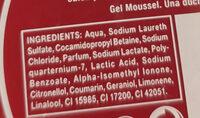 Gel de baño Moussel - Ingredientes - es