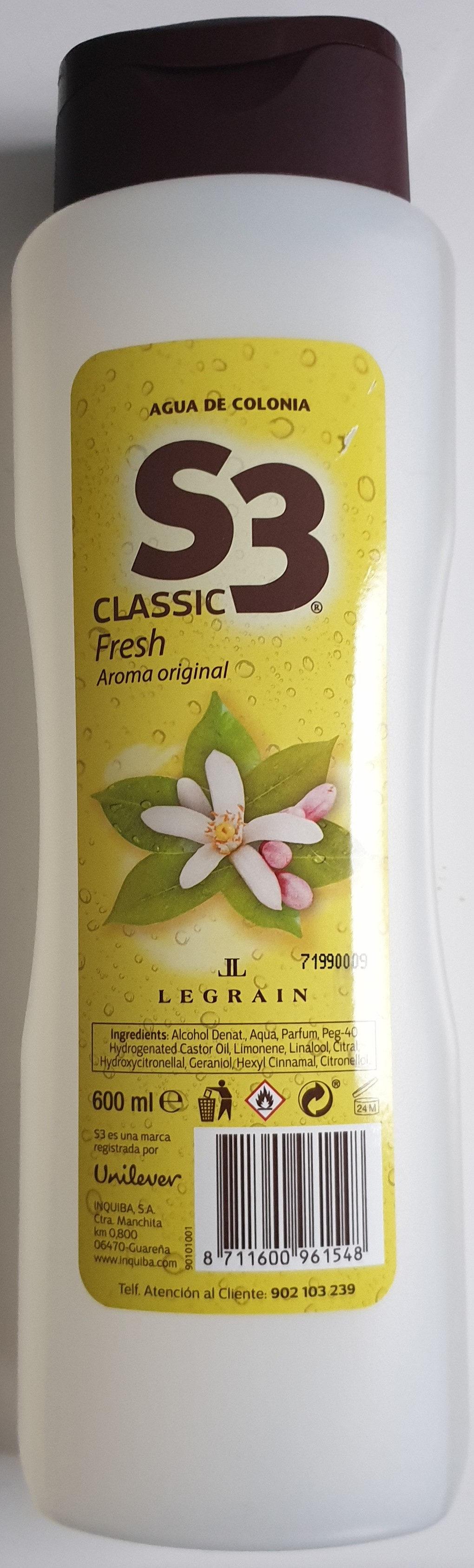 S3 classic fresh, aroma original - Produit - de