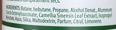 Timotei Shampoing Sec Femme Thé Vert - Ingredients - fr