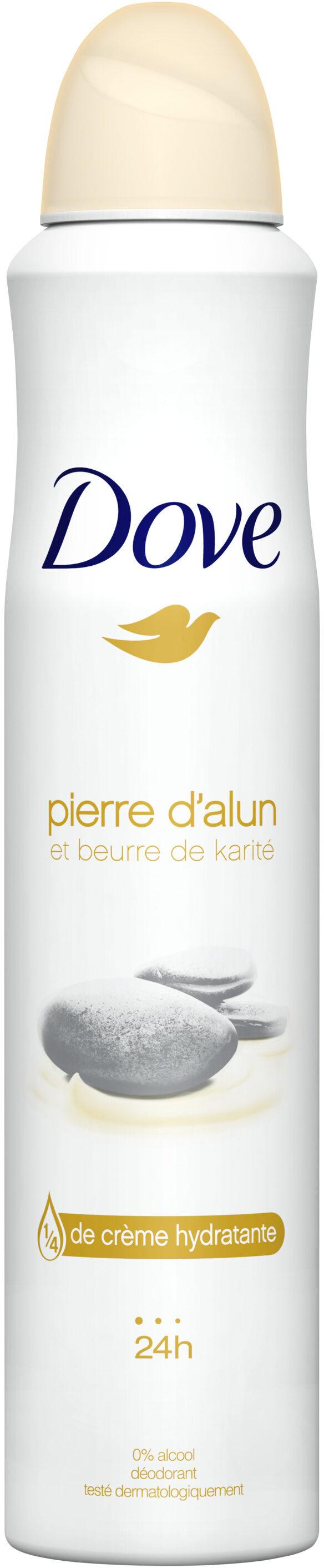 Dove Déodorant Femme Spray Pierre d'Alun & Beurre de Karité - Produit - fr
