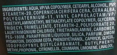 AXE Adrenaline GEL CHEVEUX Fixation Extrême Tube - Ingredients - fr