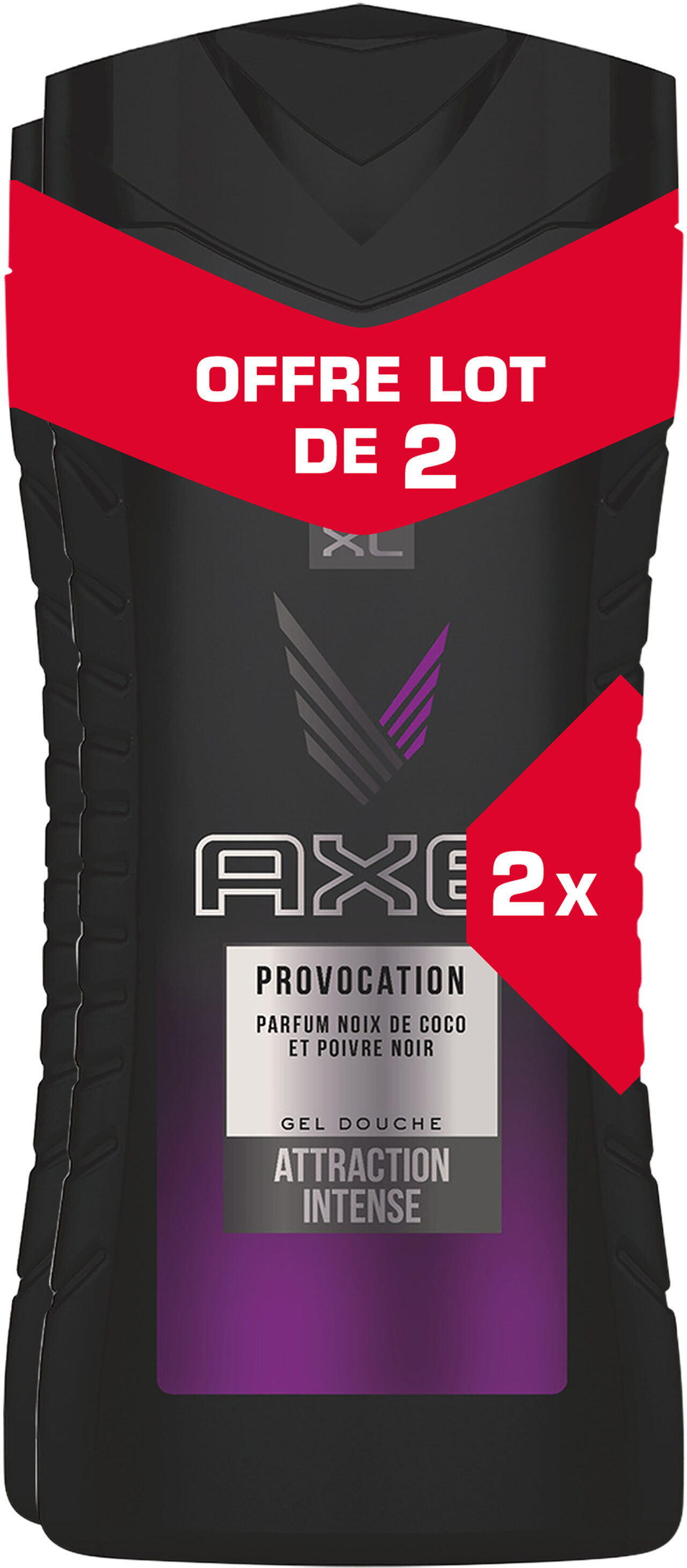 AXE Gel Douche Provocation Lot 2x400ml - Product - fr