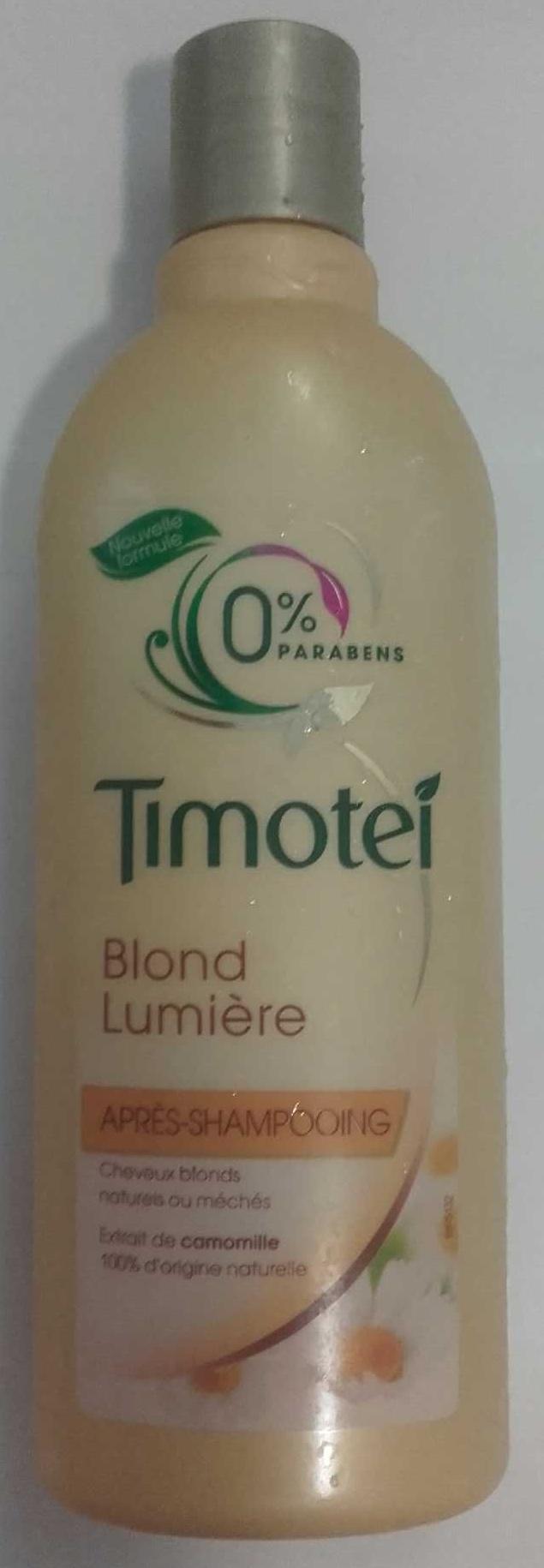 Timotei Blond Lumière Après Shampoing à l'extrait de Camomille Cheveux Blonds - Product - fr