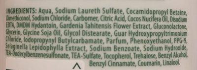 Timotei 2en1 Shampoing Femme Soin Intense enrichie à l'Huile de Noix de Coco Cheveux Secs - Ingrédients - fr