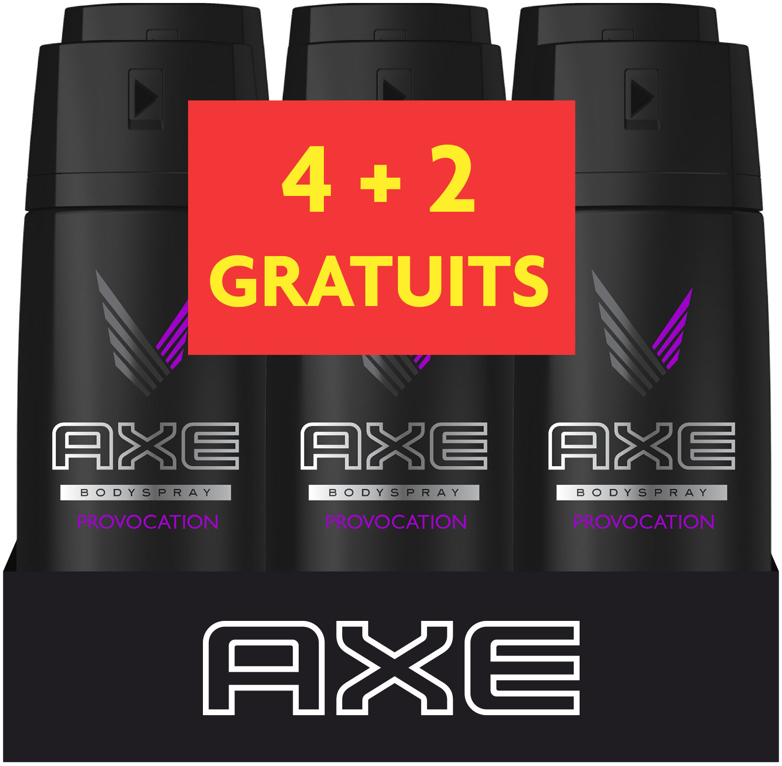 AXE Déodorant Homme Spray Provocation 150ml Lot de 4+2 Offerts - Product - fr