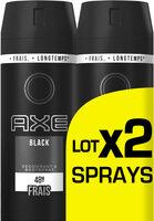AXE Déodorant Homme Spray Black 150ml Lot de 2 - Product - fr