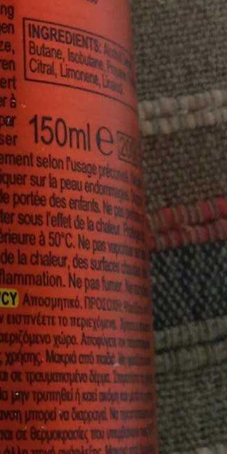 Axe Hot Fever - Ingredients - fr