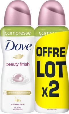 Dove Anti Transpirant Spray Beauty Finish Compressé Lot 2x100ml - Product - fr