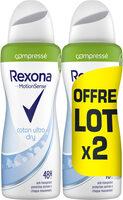 REXONA Déodorant Femme Spray Anti Transpirant Coton Compressé 2x100ml - Produit - fr
