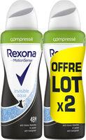 REXONA Déodorant Femme Compressé Spray Anti Transpirant 2x100ml - Product - fr