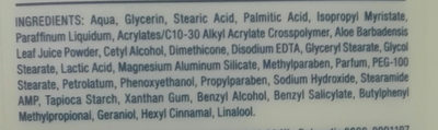 lotion - Ingredients