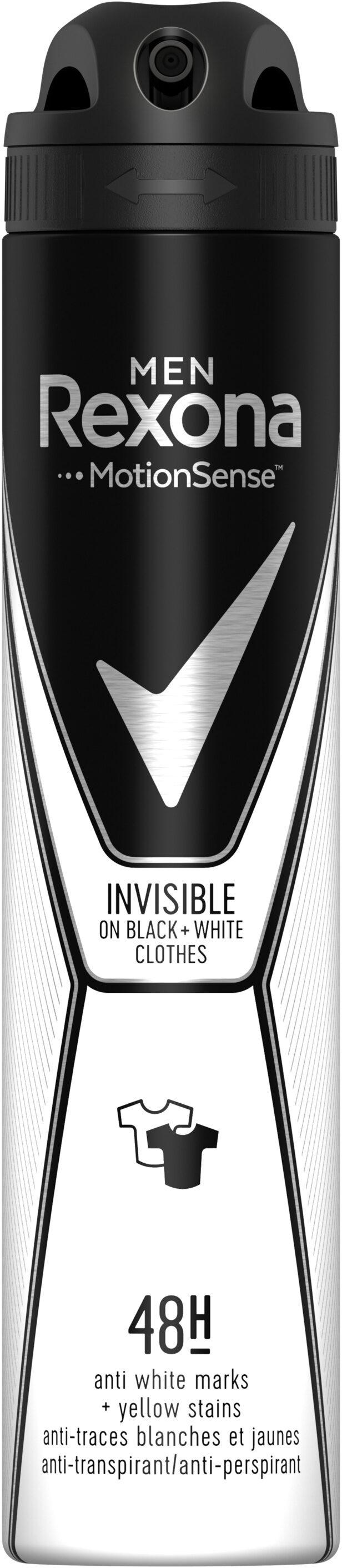 REXONA MEN Anti-Transpirant Invisible Black & White Spray - Product - fr