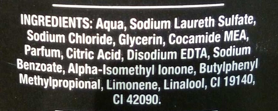 Axe black - Ingredients