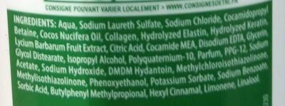 Vitalité Brillance Shampooing - Ingredients