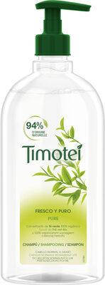 Timotei Pure Shampoing Femme Enrichi à l'extrait de Thé Vert Bio Cheveux Normaux - Product - fr