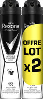 REXONA Men Anti-Transpirant Invisible Black White Spray Lot 2x200ml - Product - fr