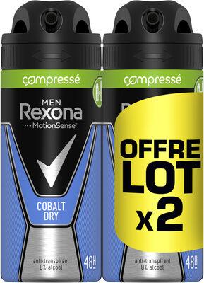 REXONA Men Anti-Transpirant Cobalt Dry Spray Compressé Lot 2x100ml - Product - fr