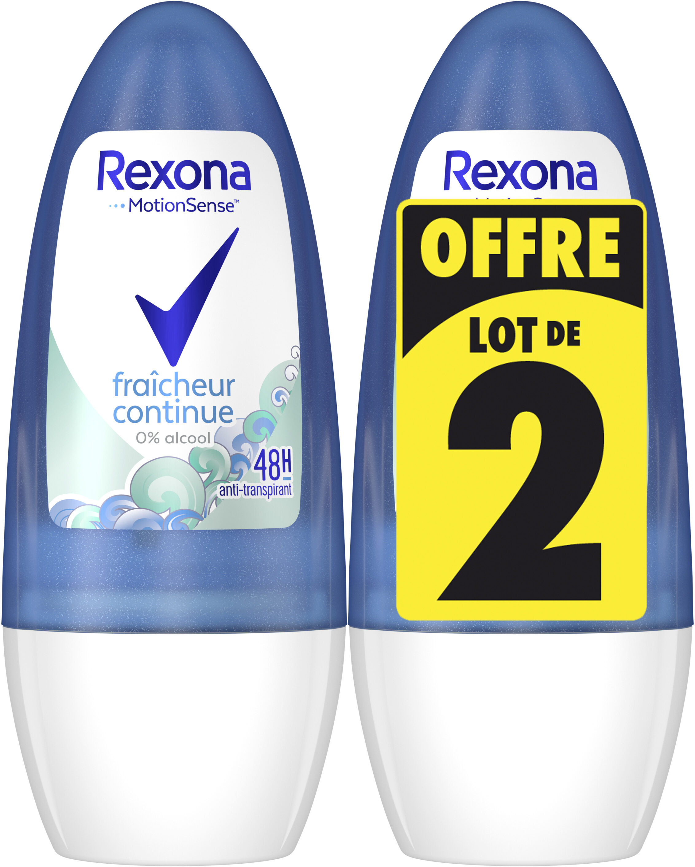 REXONA Déodorant Femme Bille Fraicheur Continue 50ml Lot de 2 - Product - fr
