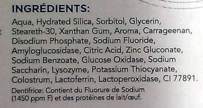 Zendium Protection complète - Ingredients